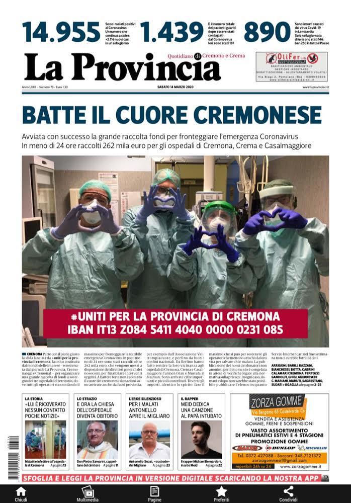 """Raccolta fondi """"Uniti per la Provincia di Cremona"""": da Federcaccia Cremona 1000 euro per le strutture cremonesi"""