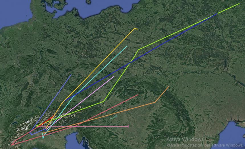 Studio sulla migrazione prenuziale della cesena: soddisfatti dei primi dati in arrivo