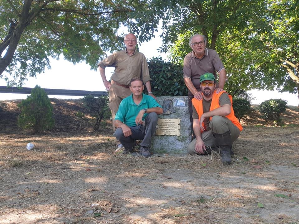 Federcacciatori ripuliscono l'area della Madonnina dei Cacciatori di Casaletto Lodigiano