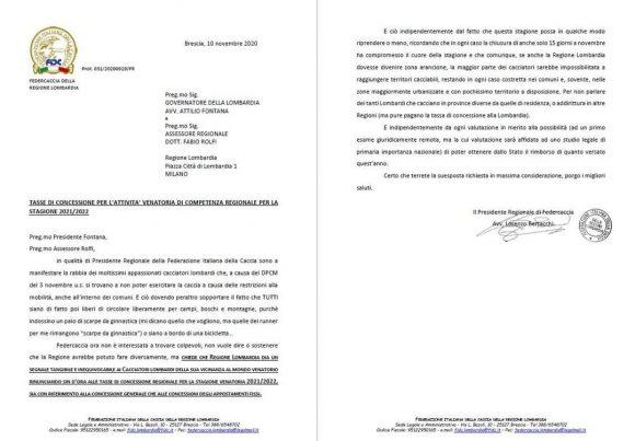 Da Fidc Lombardia la richiesta per la sospensione delle tasse regionali per l'attività venatoria per la stagione 2021/2022
