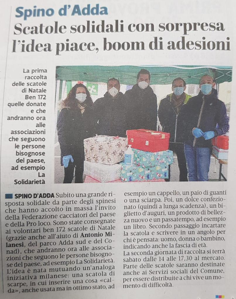 Sezione Federcaccia Spino d'Adda (Cr): il loro encomiabile impegno al servizio degli altri!
